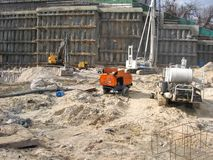 Construction work site Royalty Free Stock Images