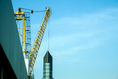 Construction work site, crane for construction area Stock Photo