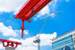 Construction work site station royalty free stock images