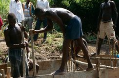 Construction work in Uganda Royalty Free Stock Photo