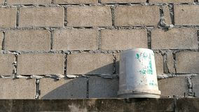 Construction work. Work wall is construction royalty free stock photos