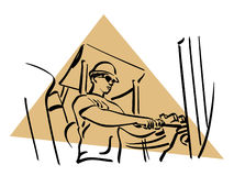 Construction worker. Illustration of a construction worker to work Stock Image