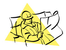 Construction worker. Illustration of a construction worker to work Stock Images