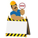 Construction worker royalty free illustration