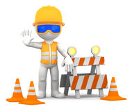 Construction worker. Over white background Royalty Free Stock Images