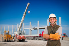 Construction and worker Royalty Free Stock Photos