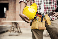 Construction worker. Tools & Construction collection: Construction Worker royalty free stock photography