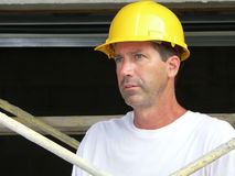 Construction Worker 4. Construction Worker standing on staging on site royalty free stock photography