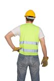 Construction worker. Isolated on white background stock images