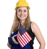 Construction worker. On white background Stock Photography