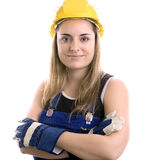 Construction Worker. On white background Stock Photo