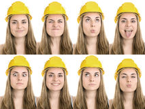 Construction worker. On white background Royalty Free Stock Image