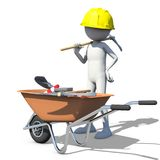 Construction worker in action Stock Photography