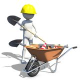 Construction worker in action Royalty Free Stock Images