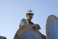 A construction worker, Alberta, Canada Stock Photo