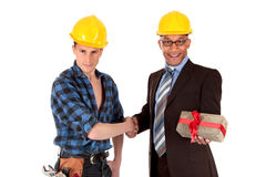 Construction worker architect Stock Image