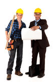 Construction worker architect Stock Images