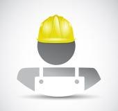 Construction worker avatar illustration design Stock Photos