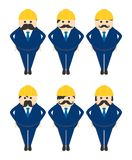 Construction worker avatar portrait picture icon Stock Photo