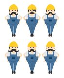 Construction worker avatar portrait picture icon Royalty Free Stock Photo