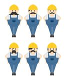 Construction worker avatar portrait picture icon Stock Photography
