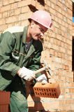 Construction worker bricklayer Royalty Free Stock Photos