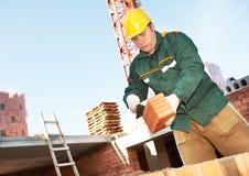 Construction worker bricklayer Stock Photos