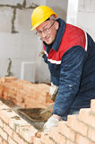 Construction worker bricklayer Stock Photos