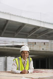 Construction Worker At Building Site Royalty Free Stock Image