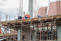 Construction worker on building Royalty Free Stock Photos
