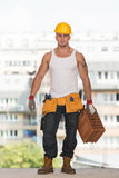 Construction Worker Carrying Brick Stock Images