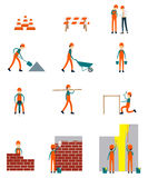 Construction worker character business teamwork vector Royalty Free Stock Photo