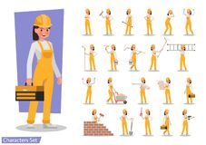 Free Construction Worker Character Vector Design No2 Royalty Free Stock Image - 134549246