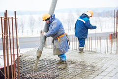Construction worker concreter Royalty Free Stock Photo