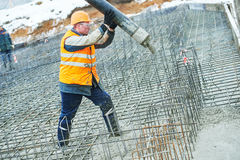 Construction worker concreter Stock Image