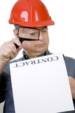Construction Worker with Contract Royalty Free Stock Photo