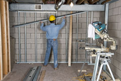 Construction Worker Contractor Handyman Drywall Stock Photo