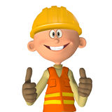 Construction worker 3d Stock Image