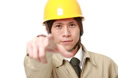 Construction worker decided Royalty Free Stock Images
