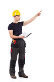 Construction worker directing Stock Photography