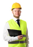 Construction worker with document Royalty Free Stock Photography