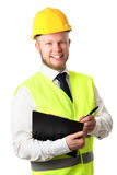 Construction worker with document Royalty Free Stock Photos