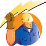 Construction worker electrician Royalty Free Stock Photos