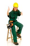 Construction worker, green Stock Photo