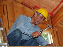 Construction Worker With Hamme Stock Images