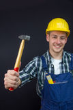 Construction worker with a hammer Royalty Free Stock Photography