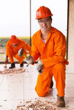 Construction worker hammer Stock Image