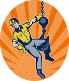 Construction worker hanging hook Stock Photography