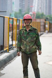 Construction worker in Hangzhou, China Stock Images