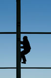 Construction worker on heights Royalty Free Stock Photo